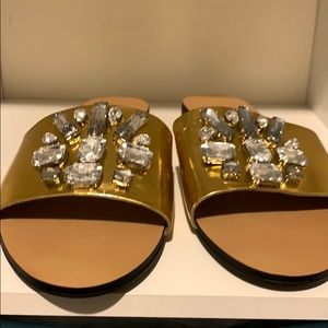 Brand New/Never Worn Size 7. Gold Flats!!
